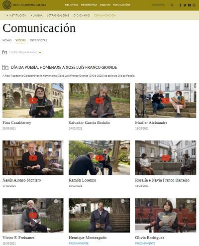 Homenaxe a Xosé Luís Franco Grande - Día da Poesía
